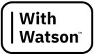 With Watson logo
